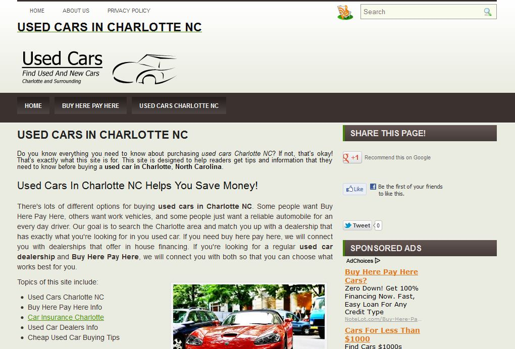 Used Cars In Charlotte NC