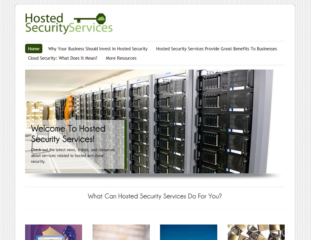 Hosted Security Services